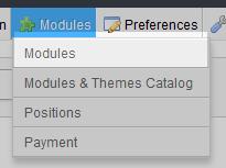 click on modules option