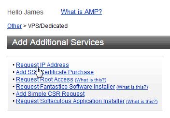 Add IP address AMP request