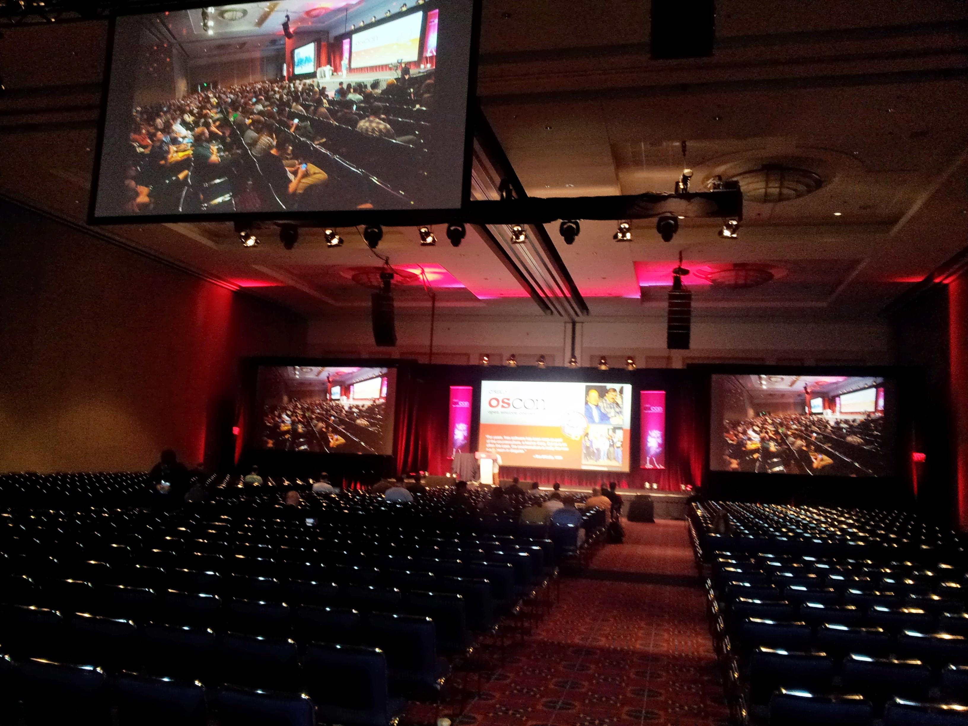 Ballroom before Tim O'Reilly's talk