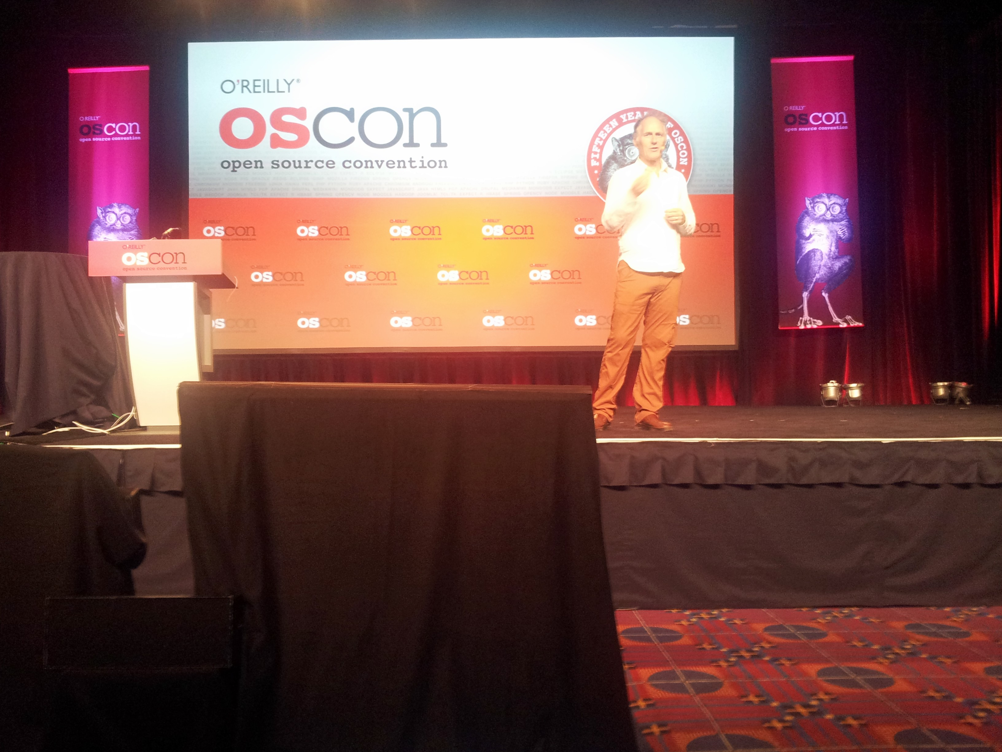 Tim O'Reilly's on stage giving his talk