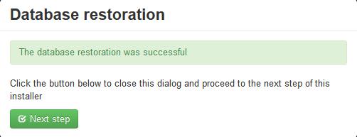 Database Restore successful