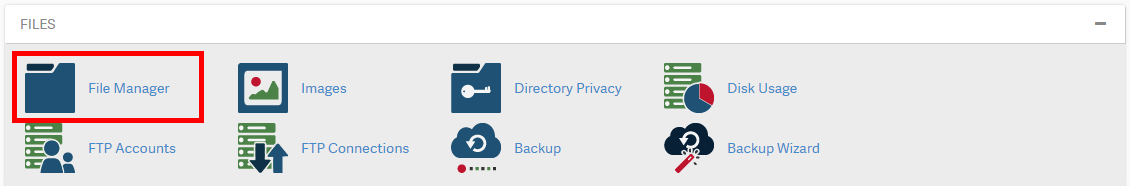 cpanel upload files 01 file manager