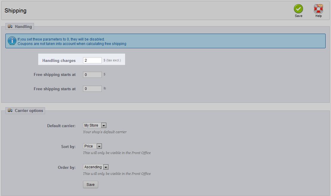 edu prestashop1.5 Shipping shipping remove default handling 2 change handling