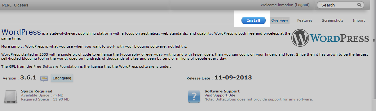 instaall WordPress