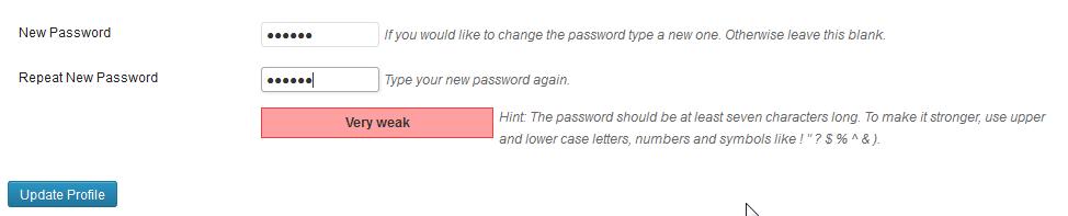 Password metering
