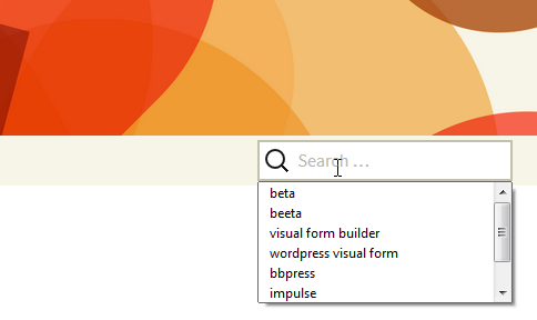 Option to search by keyword