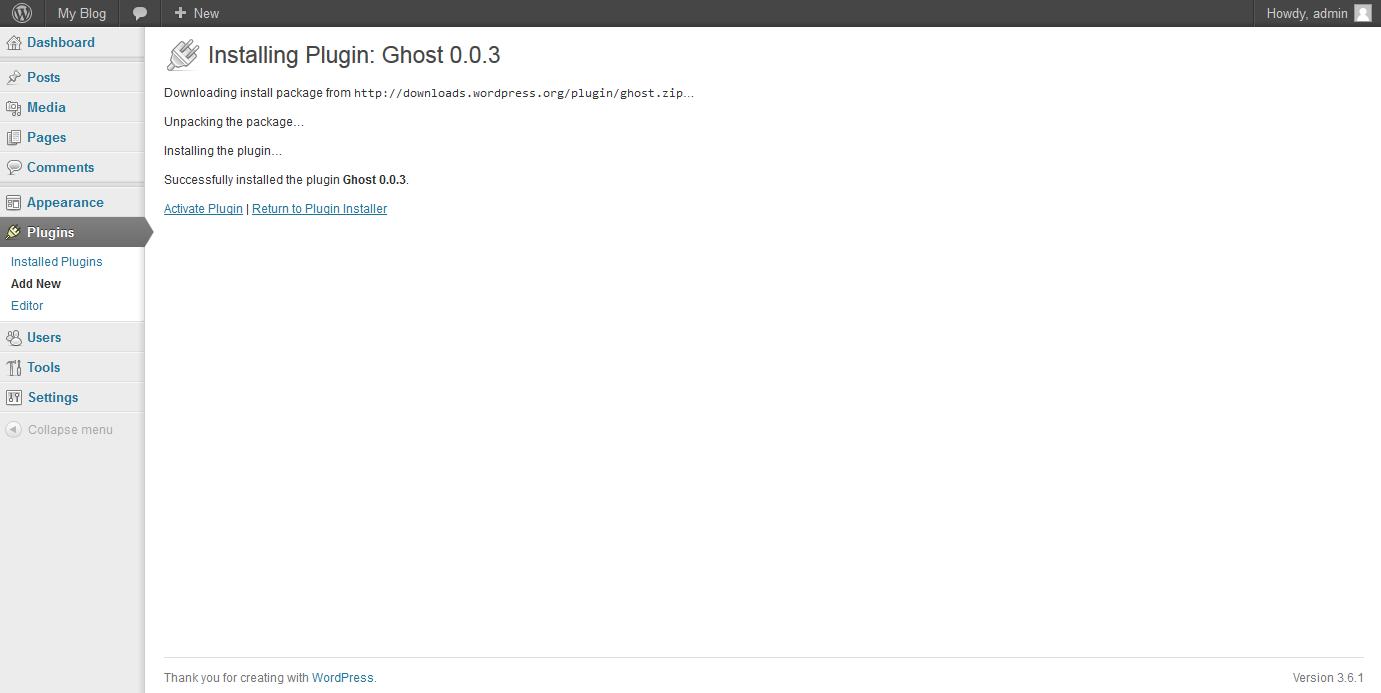 ghost export wordpress to ghost 2