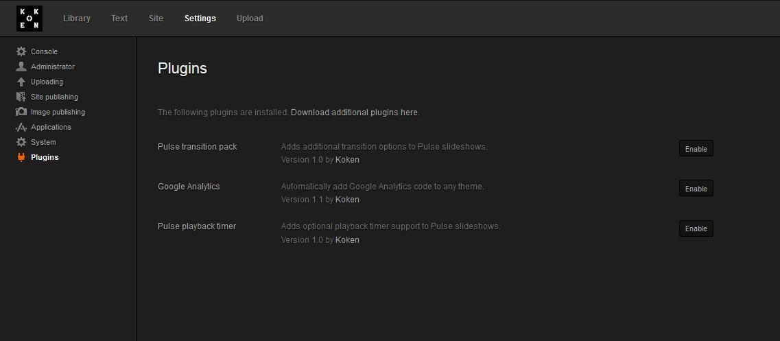 koken koken install plugin 7