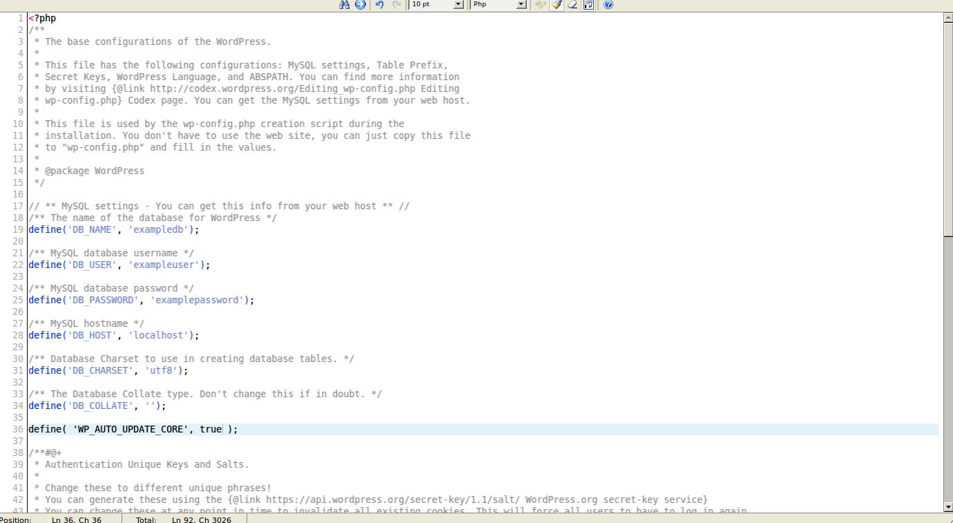 wordpress wordpress auto update 6