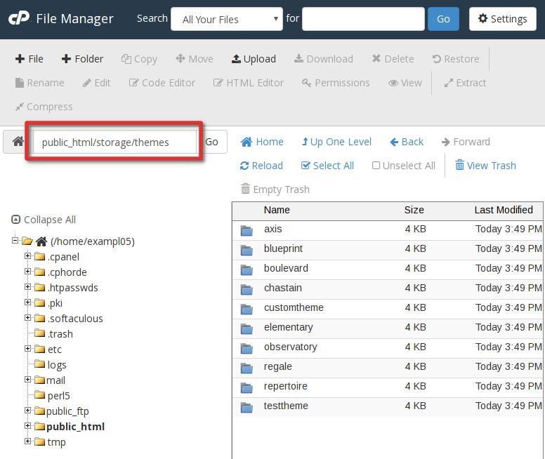 cpanel file manager koken cPanel file manager koken subdir highlight