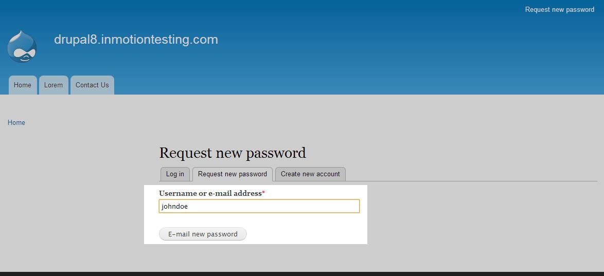 edu Drupal 8 101 reset password 2 enter username or password