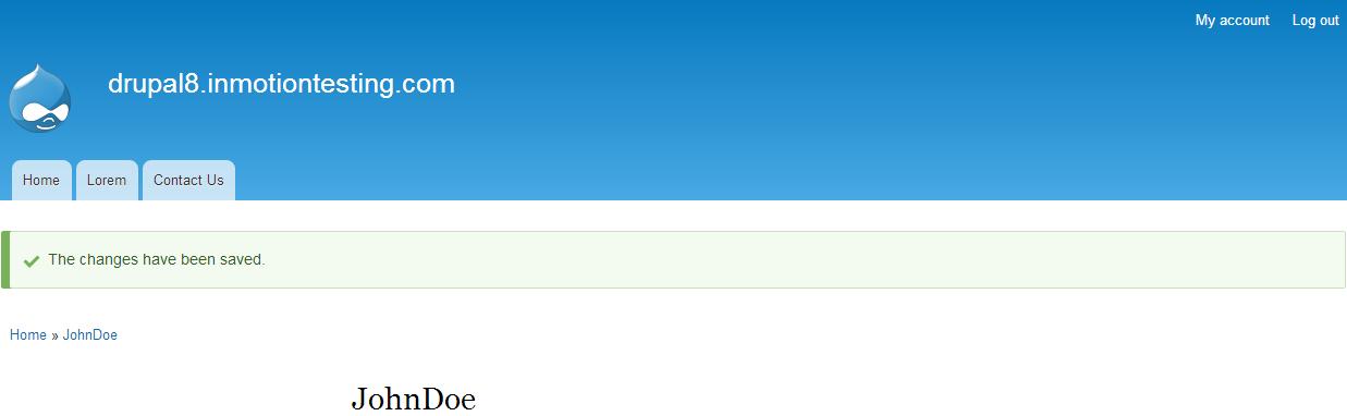 edu Drupal 8 101 reset password 6 confirmation