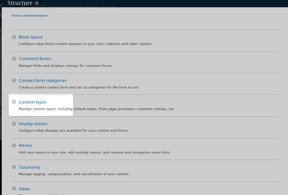 edu Drupal 8 107 adjust max comments 1 select content type