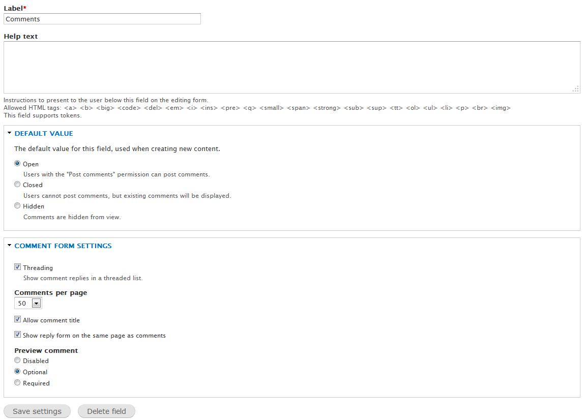 edu Drupal 8 107 customize comments 4 field content