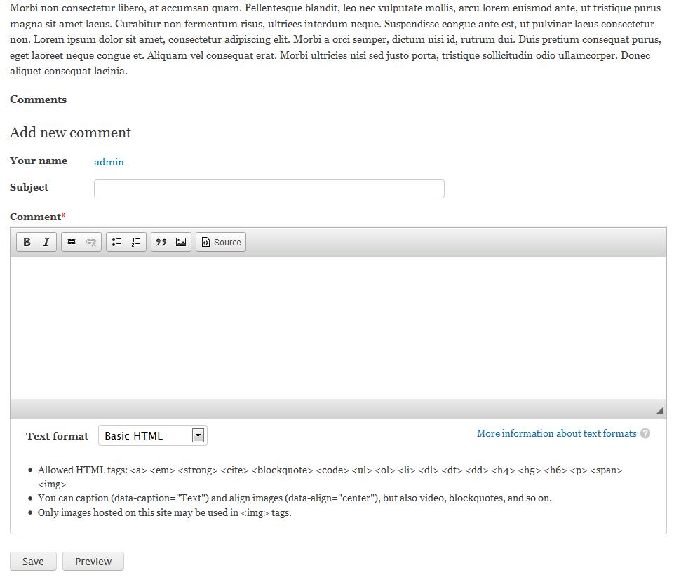 edu Drupal 8 107 customize comments after