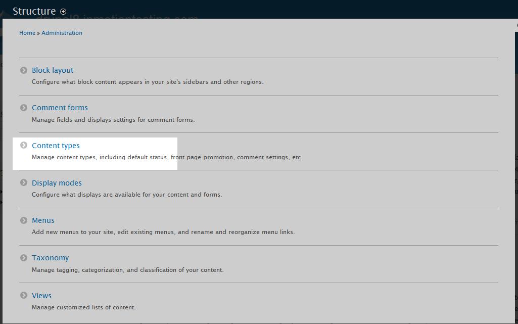edu Drupal 8 107 disable article comment 1 select content type