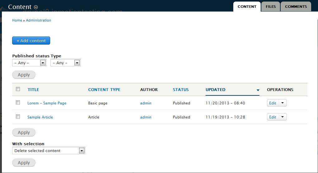 edu Drupal 8 107 disable node comment 1 select node