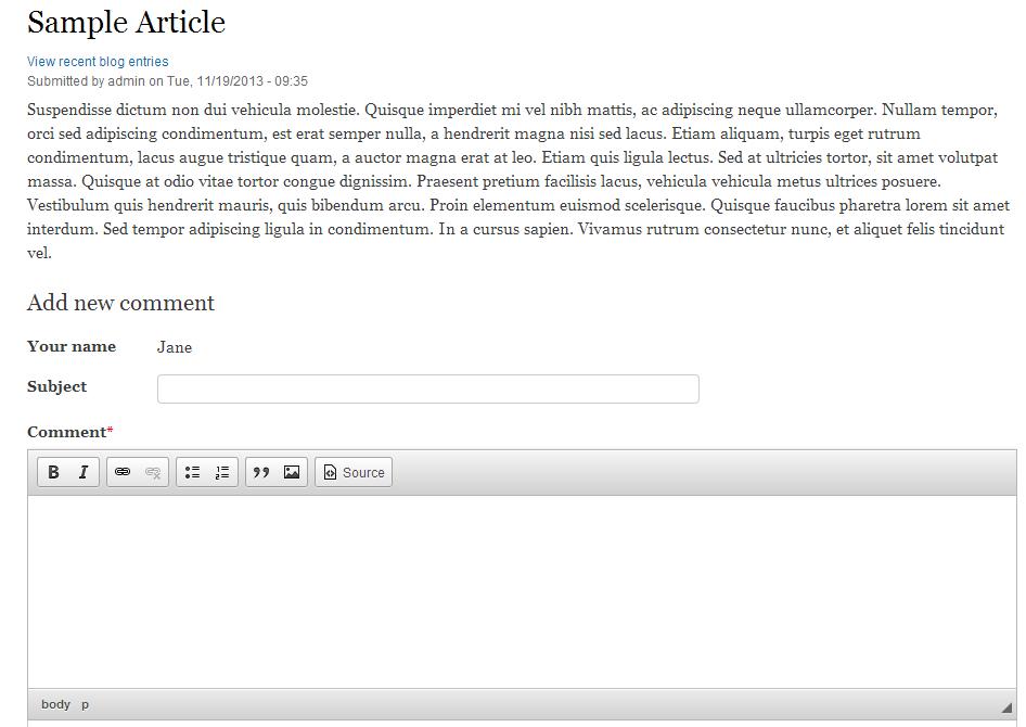 edu Drupal 8 107 disable node comment before