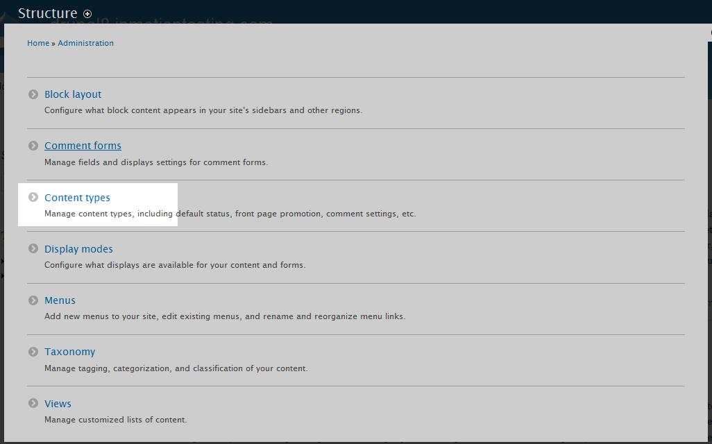edu Drupal 8 107 enable comment field 1 select content type
