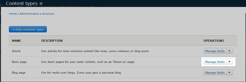 edu Drupal 8 107 enable comment field 2 select content type