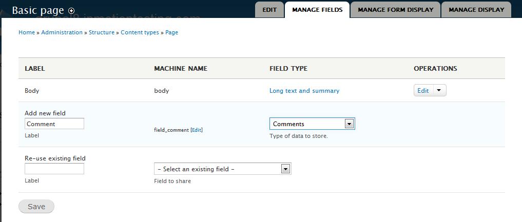 edu Drupal 8 107 enable comment field 3 add comment data