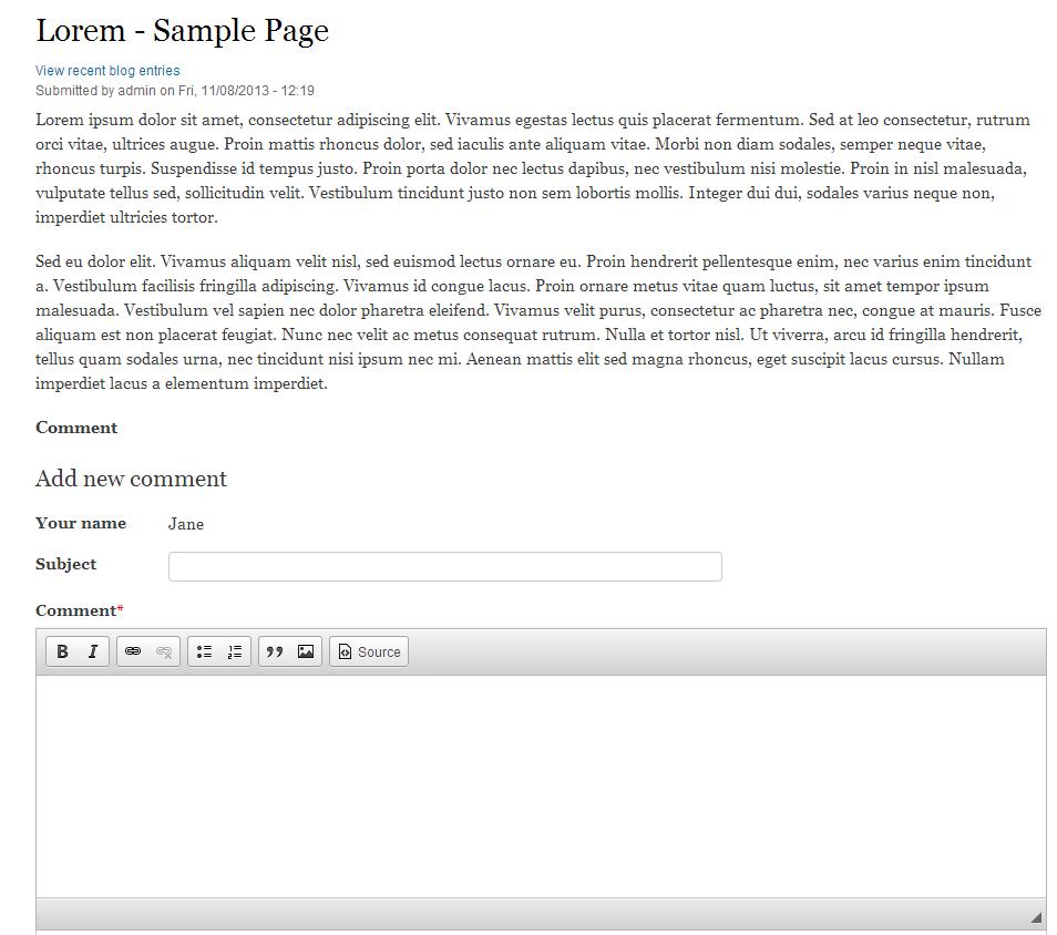 edu Drupal 8 107 enable comment field after