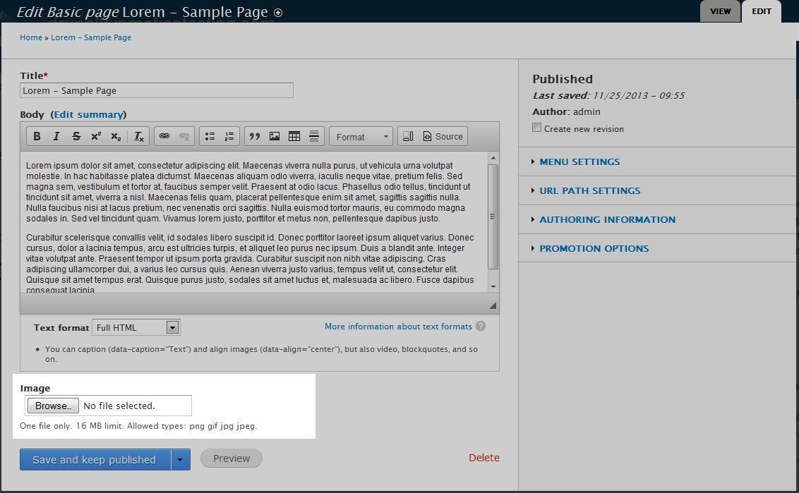 edu Drupal 8 108 enable image field after