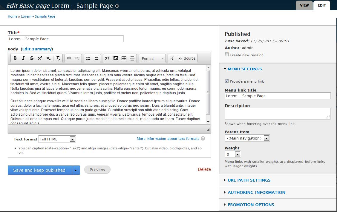 edu Drupal 8 108 enable image field before