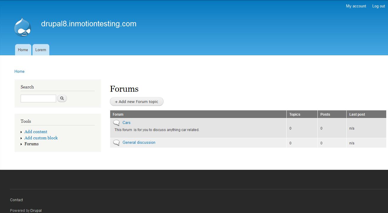 edu Drupal 8 202 create forum after