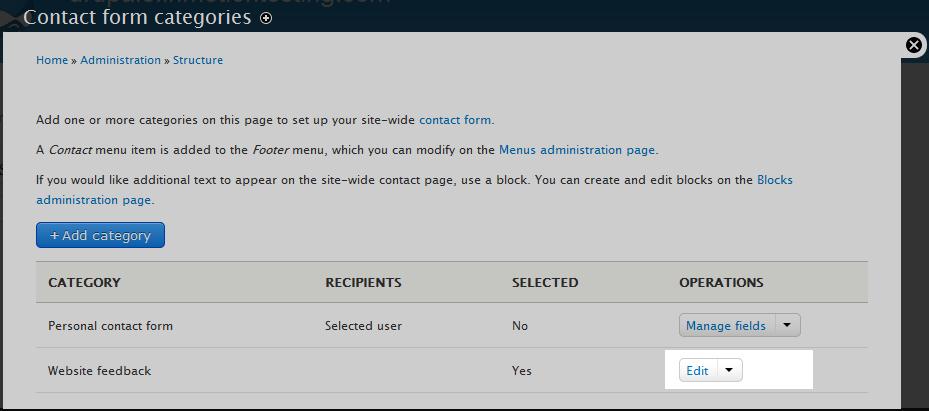 edu Drupal 8 203 configure contact form 1 edit contact form