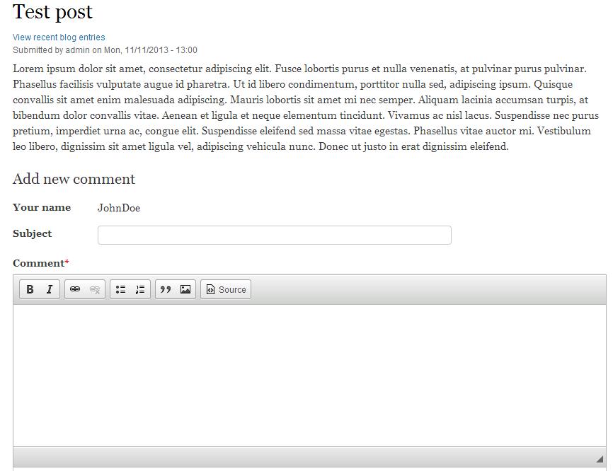 edu Drupal 8 204 disable comment before