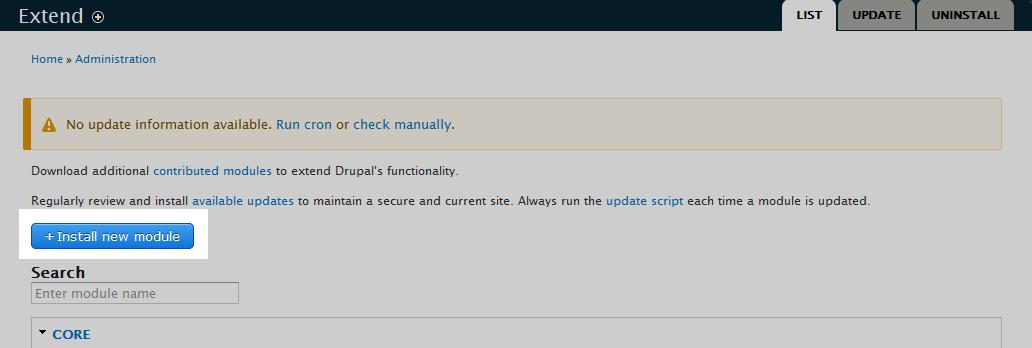 edu Drupal 8 204 install enable blog 2 click install button