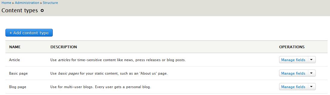 edu Drupal 8 204 install enable blog after