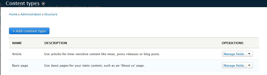 edu Drupal 8 204 install enable blog before