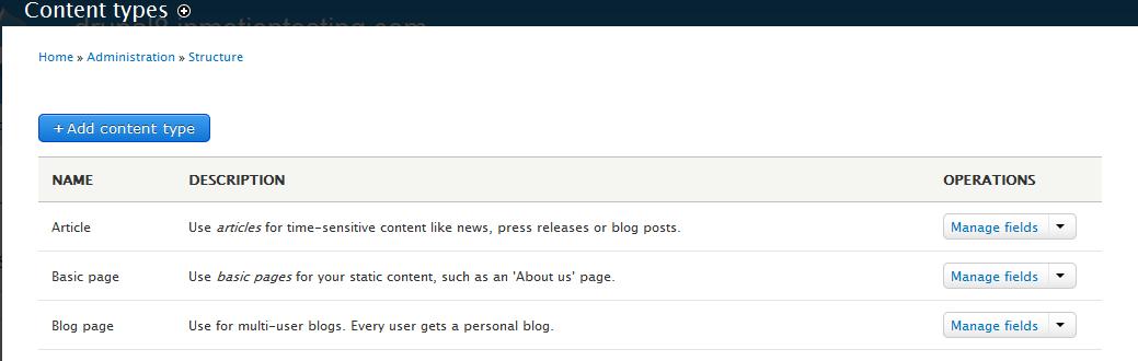 edu Drupal 8 302 2 click content type