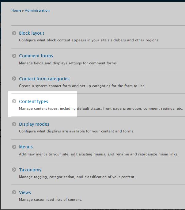 edu Drupal 8 304 1 select content type