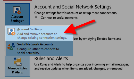 Editing account settings