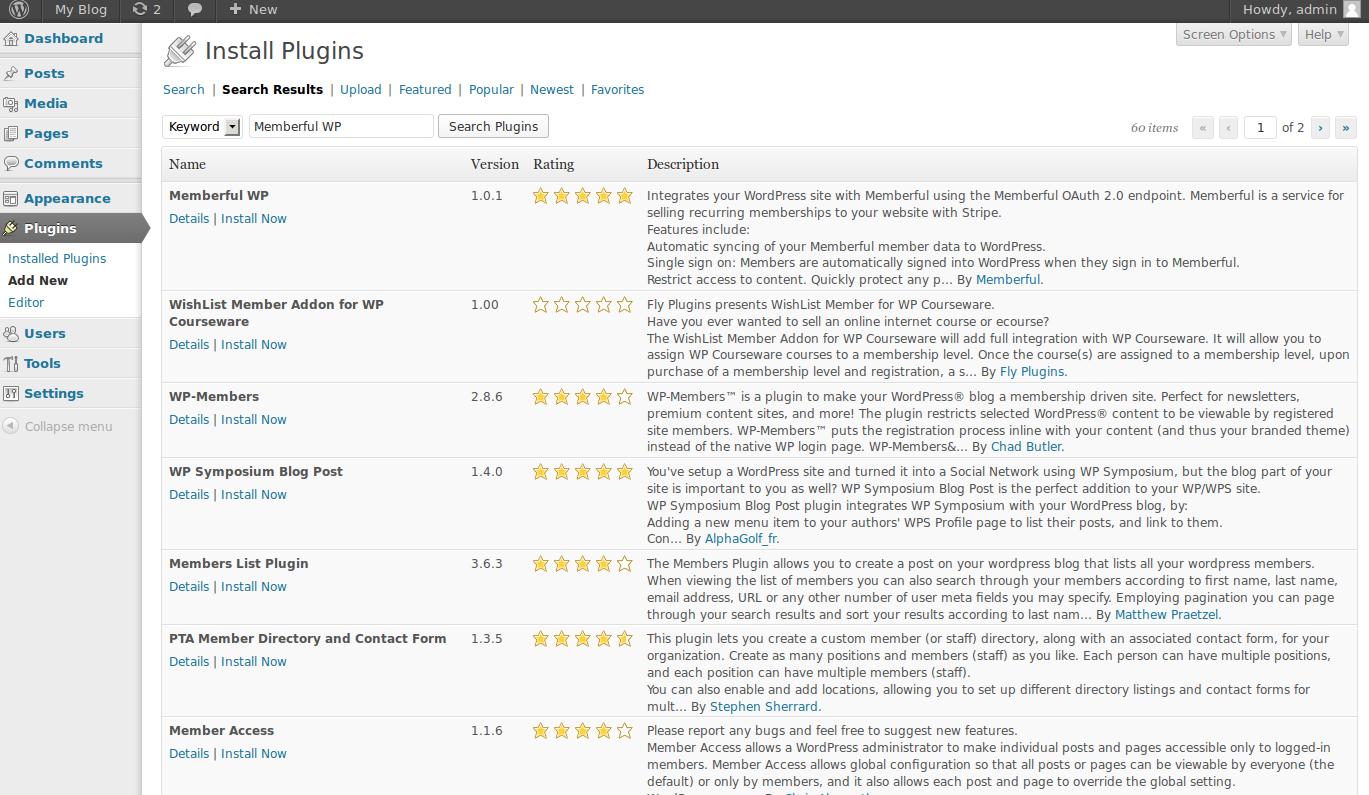 wordpress plugins memberful 1