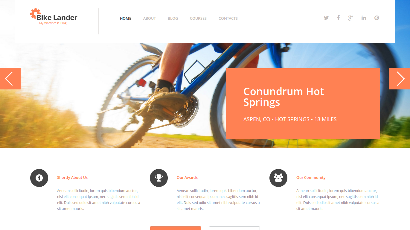 wordpress themes templatemonster biking lookslike1