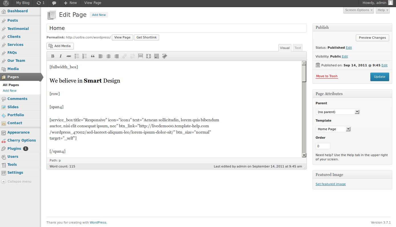 wordpress themes unobtrusive design studio 10