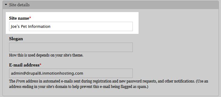 edu Drupal 8 205 change site details 8 site name