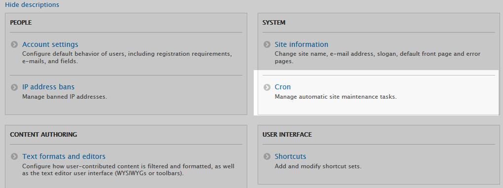 edu Drupal 8 205 set cron interval 1 click cron