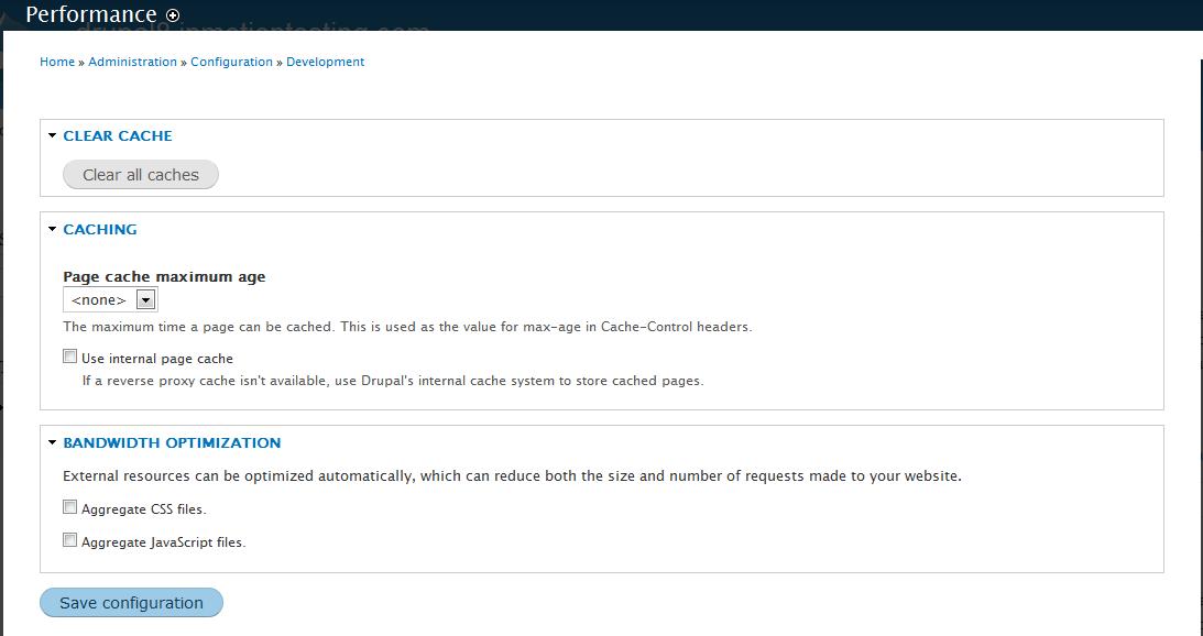 edu Drupal 8 305 2 performance settings