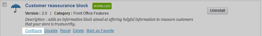 edu prestashop1.5 356 2 select customer reassurance module