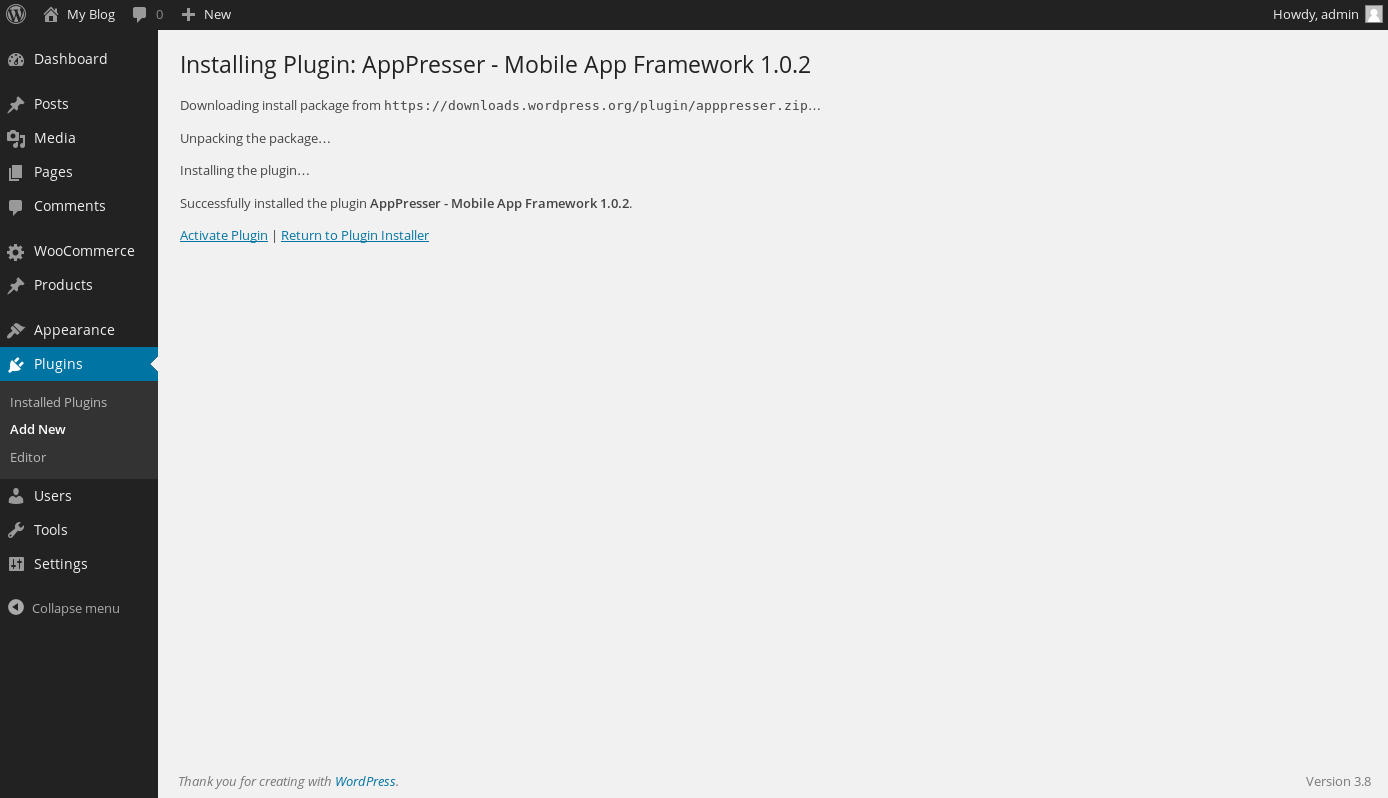 Building your first Android/iPhone app with AppPresser and