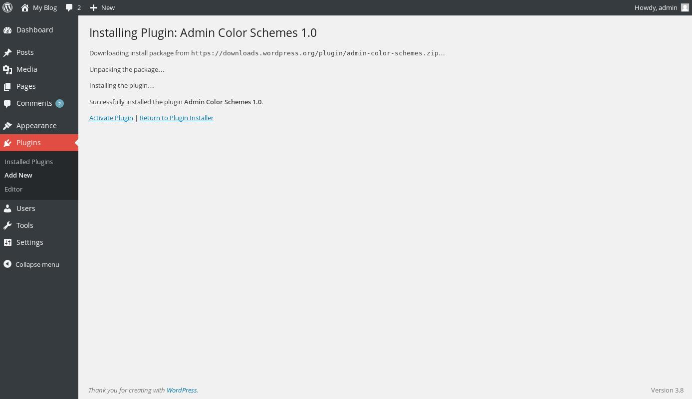 wordpress admin color 5