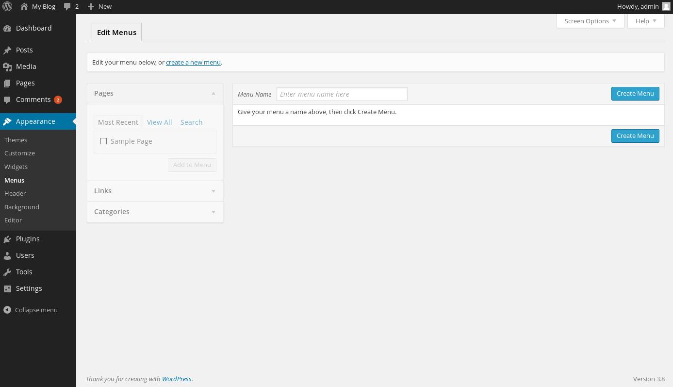 wordpress custom menus 1