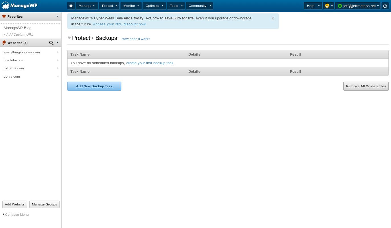 wordpress managewp backups 3