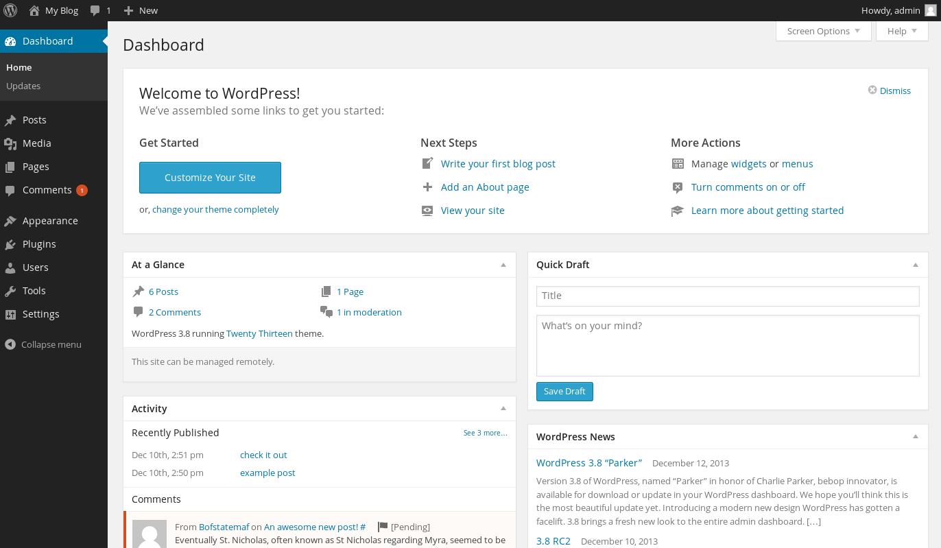 wordpress wordpress 38 release 1