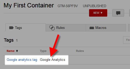 google tag manager analytics tag